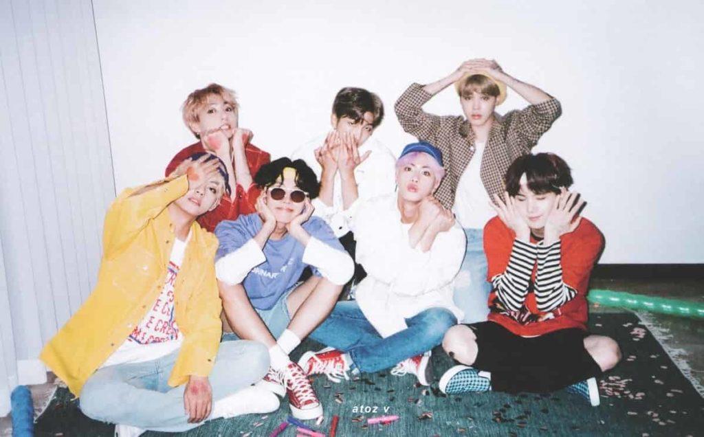 bts 방탄소년단 k-pop grupo quando eram jovens