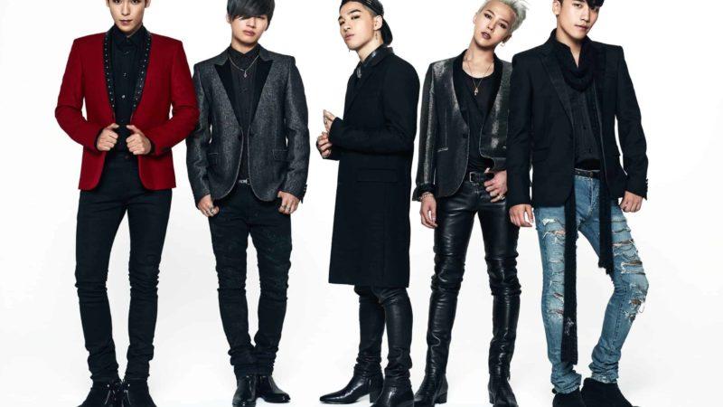 grupo bigbang e cinco integrantes
